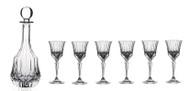 Adagio Crystal 7PC. Liquor Set