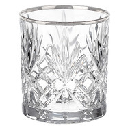 Reagan Beverage Glass with Silver Band (Set of 4) by Lorren Home Trends