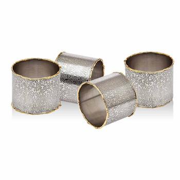 Godinger Golden Frost Napkin Rings (Set of 4)