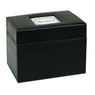 Initial Gourmet Recipe File Box