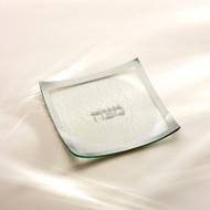 Annie Glass Matza Tray- Platinum