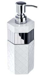 Quilted Mirror Soap Dispenser