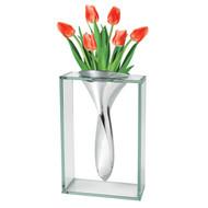 "Badash Glass Metallica Elvis Vase 13"" (AS14)"