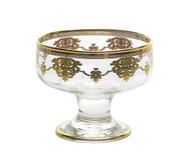 Dessert Cups w/ Gold Artwork (Set of 6)