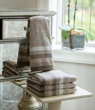 Herringbone Beige Oversized Hand Towel