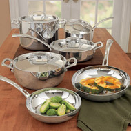 Cuisinart French Classic Tri-Ply Stainless 10-Piece Cookware Set (FCT-10)