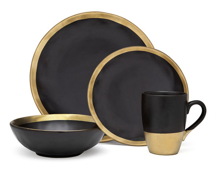 Godinger Golden Onyx Dinner Set (Service for 1) (70110)