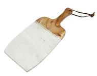 Godinger White Marble/ Wood Cutting Board (61880)
