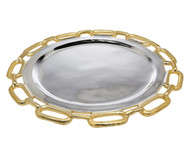 Godinger Gold Chain Border Charger Platter (82730)