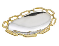 Godinger Gold Chain Border Oval Platter (Small)