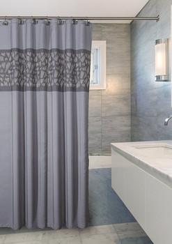 Brushed Nickel Shower Curtain (CBN-44322)