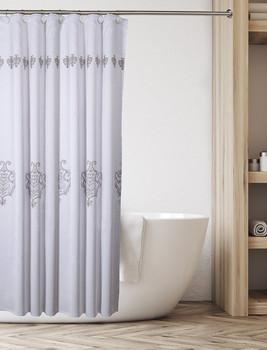 Vintage White Shower Curtain (CVW-44321)