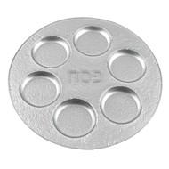 "Badash Silver Decor 13"" Glass Seder Plate (EV67S)"