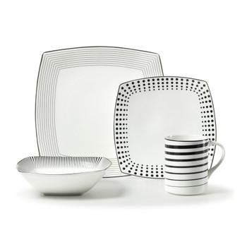Mikasa Cheers Square Dinnerware Set (Service for 1) (5080598)