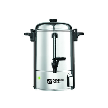 Magic Mill Stainless Steel Hot Water Urn w/ Safety Spout
