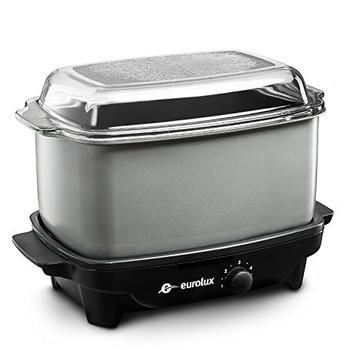 Eurolux Crock Pot/Slow Cooker and Griddle 5 Qt. (EL5300G)
