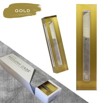 Lucite Mezuzah Case - Gold (LL-LMC-G)
