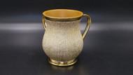 Acrylic Washing Cup Textured Metallic Design- Gold (WC-AVI5019G)