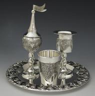Silver Plated Havdalah Set - Grapes (4212)