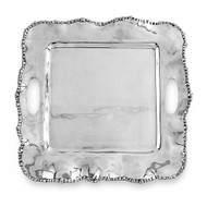 Beatriz Ball Organic Pearl Square Tray With Handles