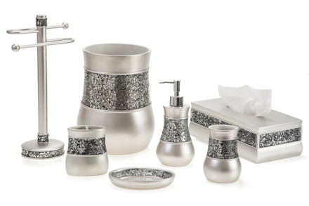 creative scents brushed nickel bath accessories - kallahregistry