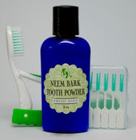 Neem Bark Tooth Powder Gum Pics and Tooth Brush Travel Set