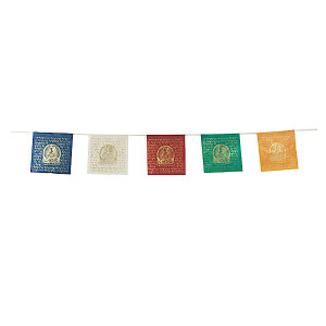 GREEN TARA paper prayer flag set