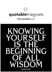 Knowing yourself is the begining of all wisdom