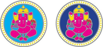 Ganesha pair Sunlight decal