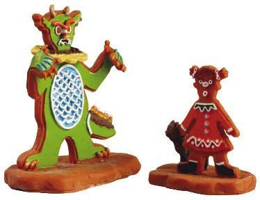 52129 - Dreaded Cookie Ghoul, Set of 2 - Lemax Sugar N Spice Figurines