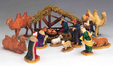 33410 -  Nativity, Set of 14 - Lemax Christmas Village Table Pieces