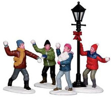 32133 - Snowball Fight!, Set of 4  - Lemax Christmas Village Figurines