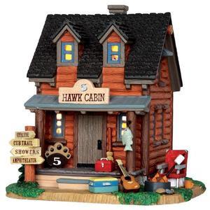 35517 - 5 Hawk Cabin  - Lemax Vail Village Christmas Houses & Buildings