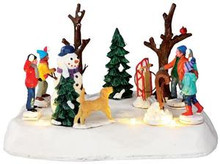 34630 - Look Out!, Battery-Operated (4.5v)  - Lemax Christmas Village Table Pieces