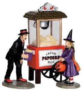 32112 - Popcorn Treats, Set of 3  - Lemax Spooky Town Halloween Village Figurines