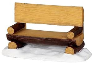 34617 - Log Bench  - Lemax Christmas Village Misc. Accessories