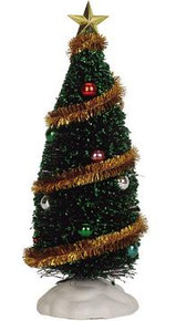 04492 -  Sparkling Green Christmas Tree, Large -  Lemax Christmas Village Trees