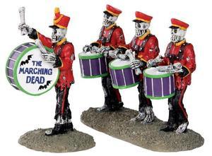 32101 - Drum Corpse, Set of 2  - Lemax Spooky Town Halloween Village Figurines