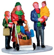 32152 - Christmas Shopping with Mom and Dad  - Lemax Christmas Village Figurines