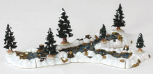 13367 -  Mill Stream Fork, Set of 10 - Lemax Christmas Village Landscape Items