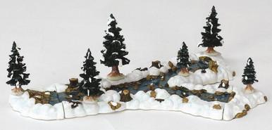 13367 -  Mill Stream Fork, Set of 10 - Lemax Christmas Village Landscape Items