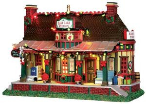 35495 - East Lake Station, with 4.5v Adaptor  - Lemax Caddington Village Christmas Houses & Buildings