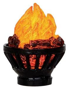 24544 - Outdoor Fire Pit, Battery-Operated (4.5v)  - Lemax Christmas Village Misc. Accessories
