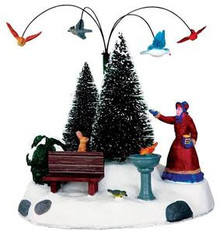 34628 - Winter Feeding, Battery-Operated (4.5v)  - Lemax Christmas Village Table Pieces