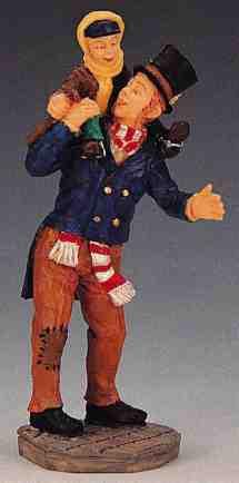 02403 -  Bob Cratchit and Tiny Tim -  Lemax Christmas Figurines