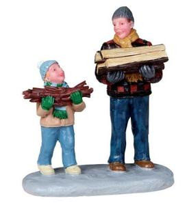 02807 - Firewood for the Hearth -  Lemax Christmas Figurines