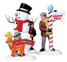 02836 - Setting Up for the Season, Set of 3 -  Lemax Christmas Figurines