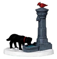 04231 water fountain lemax christmas village accessories