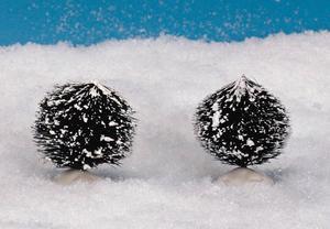 14007 - Round Bristle Tree, Set of 2, Small - Lemax Christmas Village Trees