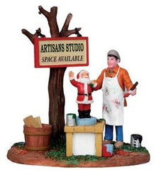 13915 - Painting Wooden Santas - Lemax Christmas Village Table Pieces